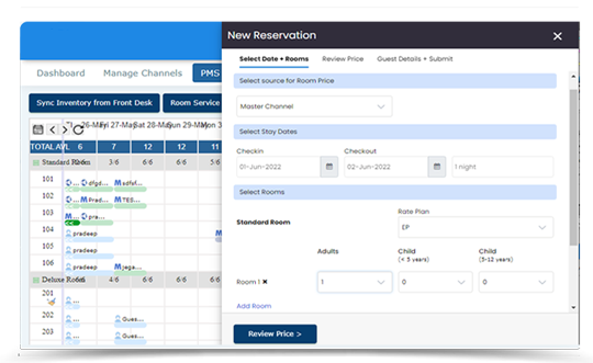 manage hotel reservation easily through eglobe PMS