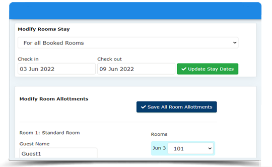 auto room allotment with cloud PMS
