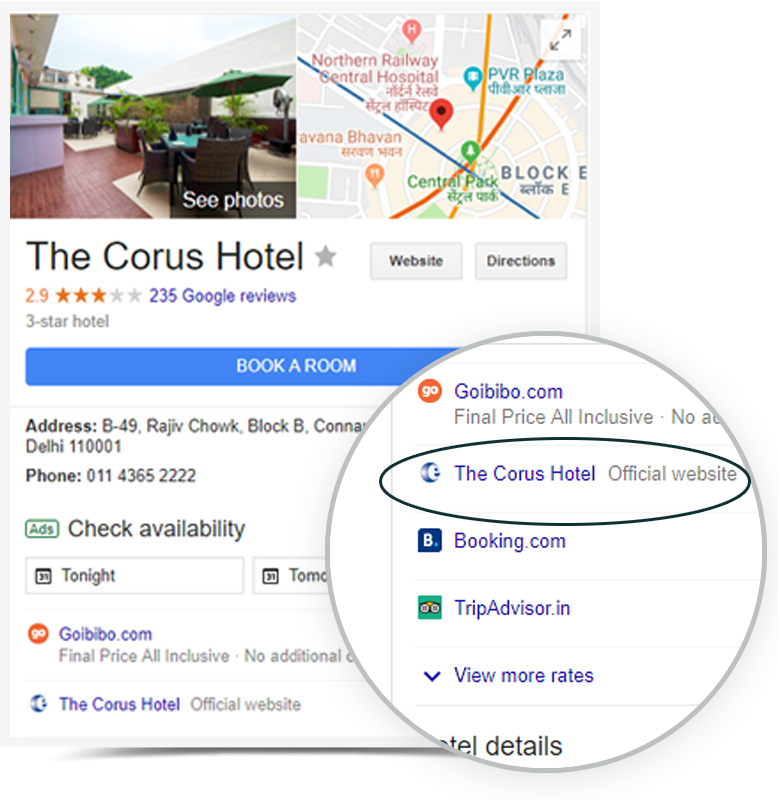 eGlobe(Best Channel Manager Company) Google hotel Ads